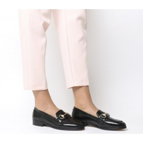 Office Fluster Loafers Black Groucho Leather - Women's Loafers for Women New Look X9FKT4424