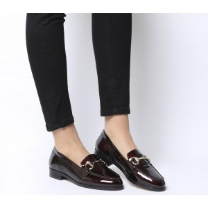 Office Fluster Loafers Burgundy Patent - Flat Shoes for Women for Women At Target W1I9H3042