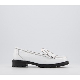 Office Forgiveable Embroidered Drivers White Leather - Flat Shoes for Women for Women New Season XAN5S157