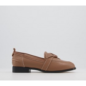 Office Francesca Feature Bow Loafers Camel Leather - Flat Shoes for Women for Women For Sale KNV351887