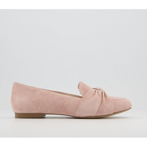 Office Freely Twisted Vamp Loafer Shoes Soft Pink Suede - Flat Shoes for Women for Women new look IYIEV2358
