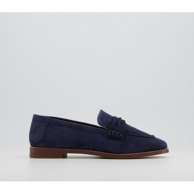 Office Freetown Soft Square Toe Loafers Navy - Step Out In Style for Women C6SRR5853