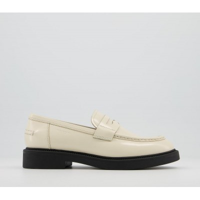 Vagabond Shoemakers Alex W Loafers White Polished - Flat Shoes for Women for Women New Season OMD572997