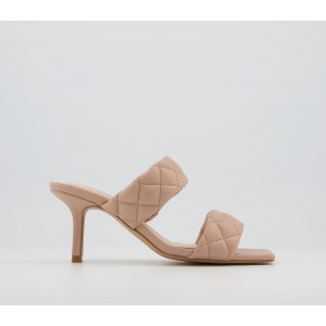Office Madina Quilted Mules Nude - Mid Heels for Women in style LE91G5962
