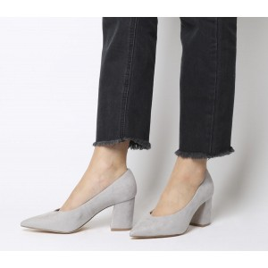 Office Mama Point Court Heels Grey - Mid Heels for Women shopping Q6Y7Z7657
