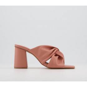 Office Manarola Knotted Mules Pink - Mid Heels for Women on sale online 6GXU15524