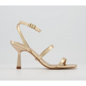 Office Marching Band Strappy Stillettos Gold Leather - Non Promo Products for Women HFL503110