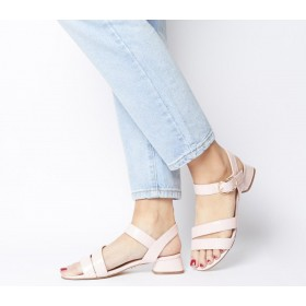 Office Maria Sandal With Flared Heels Pink Croc - Mid Heels for Women New Arrival C5H3M1087