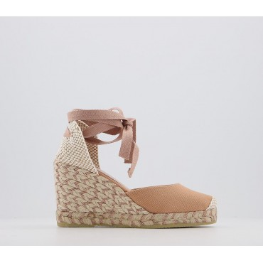 Office Marmalade Part Espadrilles Nude Canvas Rose Gold Fleck - Mid Heels for Women high quality I4P2J1577