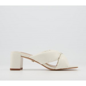 Office Master Plan Padded Mules Off White Leather - Non Promo Products for Women boutique F6TMD3866