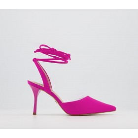 Office Meander Mid Ankle Tie Court Heels Pink - Womens for Women outlet 4EIFE4388