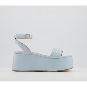 Office Miri Two Part Wedges Pale Blue - Mid Heels for Women business casual YX8QQ9037