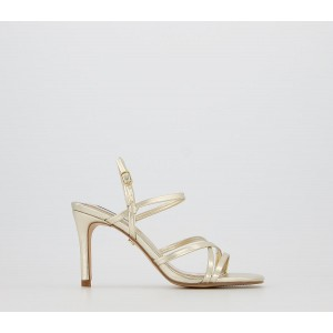 Office Missy Strappy Sandals Gold - Mid Heels for Women Fashion 3M5LS7625