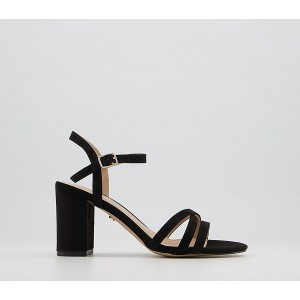 Office Moonflower Two Part Block Heeled Sandals Black - Mid Heels for Women guide 7WC042822