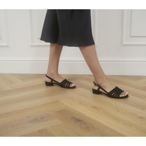 Office Multiply Slingback Block Heels Black Leather - Non Promo Products for Women high quality MS3HW6146
