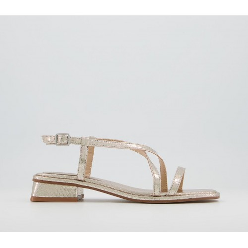 Office Slightly Strappy Sandals Rose Gold Snake - Women's Sandals for Women stores 8EE5Z6474