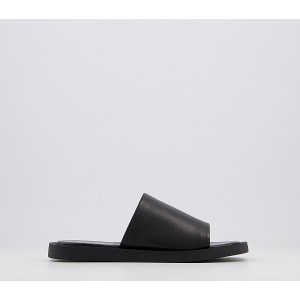 Office Soften Leather Mules Black Leather - Women's Sandals for Women DTNGJ3744