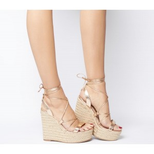 Office Hula Ghillie Chunky Wedges Rose Gold - High Heels for Women 2021 Trends O6ZOA8304