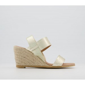 Office Marilia Two Part Wedges Gold Metallic - Mid Heels for Women in style NPTNA4301