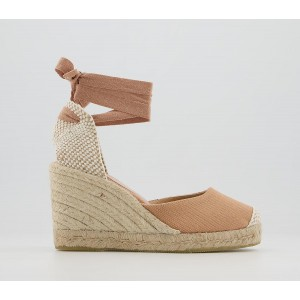 Office Marmalade Part Espadrilles Blush Canvas - Mid Heels for Women Clearance Sale 8K7WL8858