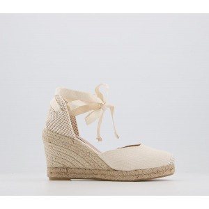 Office Marmalade Wf Espadrille Wedges Natural Canvas - Mid Heels for Women most comfortable F78YU2791