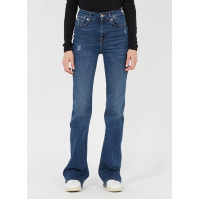 7 FOR ALL MANKIND Women's Jean brut Straight stretch cotton jeans stores MKBQ909