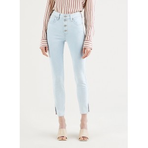 LEVI'S Women's 721 EXPOSED BUTTONS ANK - Light wash jean 721 Rise skinny jeans outfits DCXA912