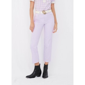 MAJE Women's PERRY - Purple Straight cotton-blend jeans with cut-outs At Target KADM152