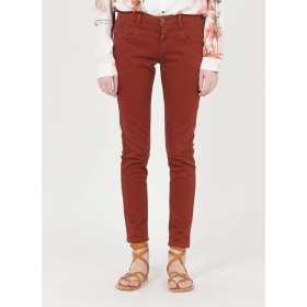 ONE STEP Women Beige Embroidered high-waisted slim-fit jeans boutique LJUP768