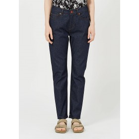 SCOTCH AND SODA Women's Blue Straight high-waisted raw jeans Cost SBPZ129
